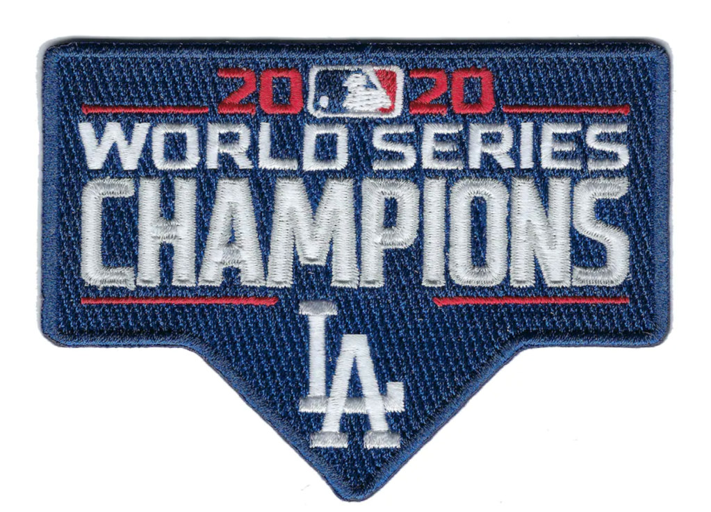 2020 MLB World Series Champions Jersey Patch