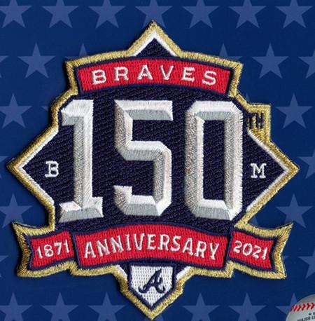 Atlanta Braves 150th Anniversary Patch