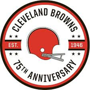 Cleveland Browns 2021 75th anniversary patch