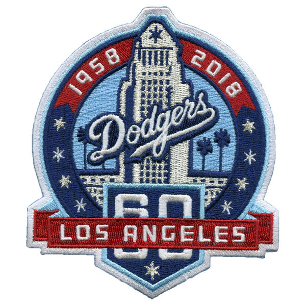 Los Angeles Dodgers 60TH patch