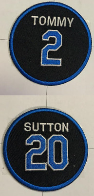 #20 Don Sutton #2 Tommy Lasorda Dodgers Jersey Patches