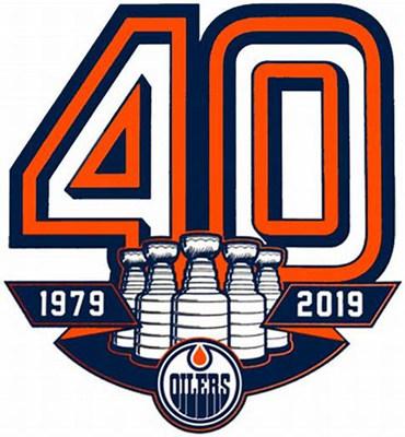 Edmonton Oilers 40TH patch