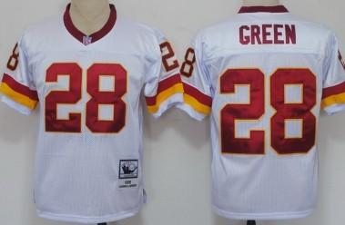 Washington Redskins  28 Darrell Green White Throwback Jersey dc6d9e755