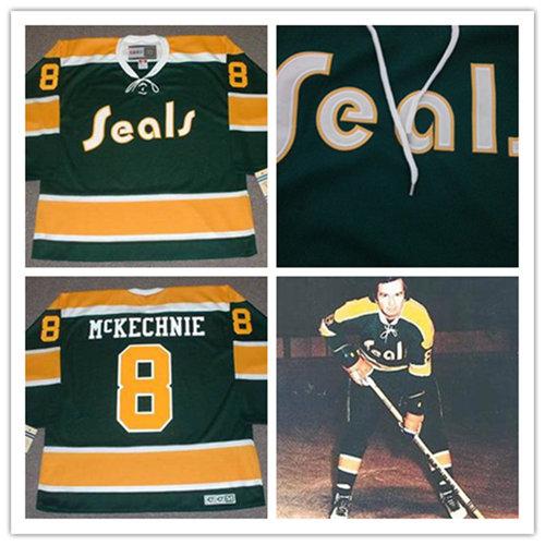 6770a267d Men s California Golden Seals  8 WALT McKECHNIE 1972 CCM Vintage Throwback  NHL Jersey