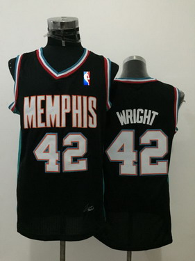 9b39a52fdd8f ... mens memphis grizzlies 42 lorenzen wright black hardwood classics soul  swingman throwback jersey