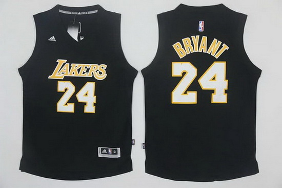 d5fc53a905e Men s Los Angeles Lakers  24 Kobe Bryant Black With White Stitched NBA  Adidas Revolution 30 Swingman Jersey