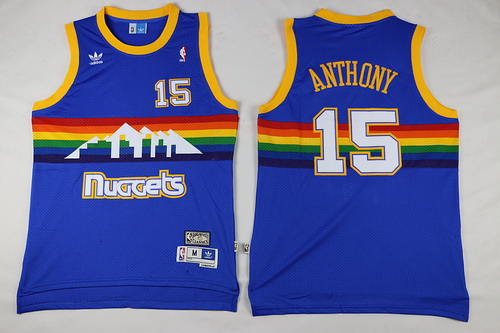 5718a031c ... australia mens denver nuggets 15 carmelo anthony blue rainbow hardwood  classics soul swingman throwback jersey 728a7