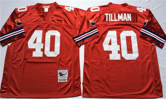 7434b7597692 Men s Arizona Cardinals  40 Pat Tillman Red Mitchell   Ness Throwback  Vintage Football Jersey