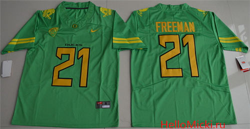 Men s Oregon Ducks  21 Royce Freeman Apple Green Limited Stitched College Football  2016 Nike NCAA Jersey f7c5dff76