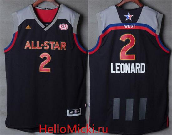 eac26a9551ea Men s Western Conference San Antonio Spurs  2 Kawhi Leonard adidas Black  Charcoal 2017 NBA All-Star Game Swingman Jersey