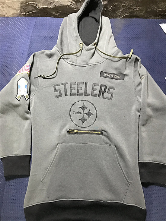 timeless design 89a88 7e86a Men's Pittsburgh Steelers Nike Gray Salute to Service NFL ...