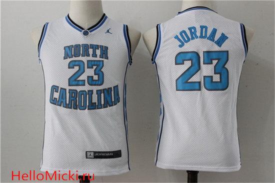 5bd799bb9205f9 Youth North Carolina Tar Heels  23 Michael Jordan White College Basketball  Brand Jordan Swingman Stitched NCAA Jersey