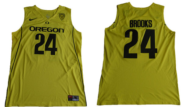 Men s Oregon Ducks  24 Dillon Brooks Yellow College Basketball 2017 Nike  Swingman NCAA Jersey 7105c8f99