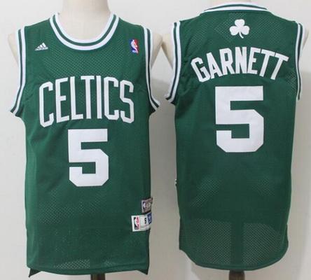 e59d6e50d04 Men s Boston Celtics  5 Kevin Garnett Green Hardwood Classics Soul Swingman  Stitched NBA Throwback Jersey