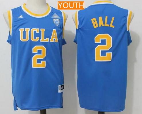 37221ba9e Youth UCLA Bruins  2 Lonzo Ball Light Blue College Basketball 2017 adidas  Swingman Stitched NCAA Jersey