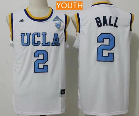 065ddb705 Youth UCLA Bruins #2 Lonzo Ball White College Basketball 2017 adidas  Swingman Stitched NCAA Jersey