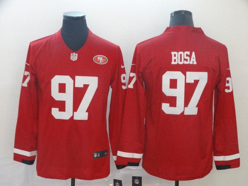 Spieltrikot Nick Bosa San Francisco 49ers # 97 Herren-Rugbytrikot American Football-Spieleruniformen
