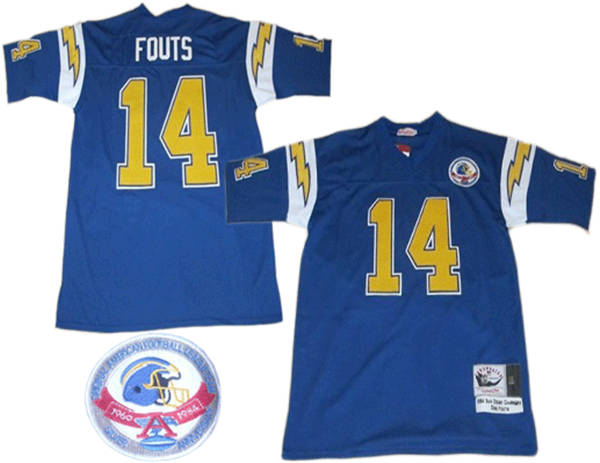san francisco 7ff65 856a4 San Diego Chargers #14 Dan Fouts AFL Blue Mitchell&Ness Jersey